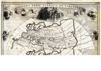 1700 Cellarius Map of Asia Europe and Africa accor