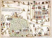 1704 Gemelli Map of the Aztec Migration from Aztla