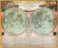 1707 Homann and Doppelmayr Map of the Moon by Geog