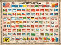 1864 Johnson Chart of the Flags and National Emble