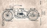 USD54346-0 HARLEY-DAVIDSON Motorcycle Patent from