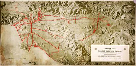 Pacific Electric map of Los Angeles (1920)