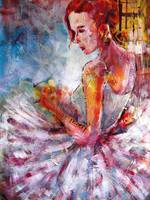 Ballet Dancer Art Prints - Waiting
