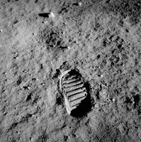 Apollo 11 Buzz Aldrins Moon Footprint by NASA