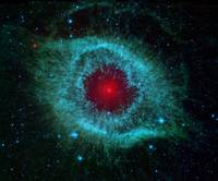 infrared image of the Helix Nebula  by NASA
