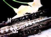clarinets and flute with Lilies