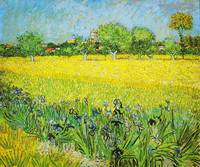 View of Arles with Irises By Vincent van Gogh 2