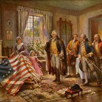 The-Birth-of-Old-Glory-by-Percy-Moran Art Prints & Posters by Celestial Images