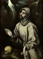 El Greco  - ST. FRANCIS OF ASSISI RECEIVING THE ST