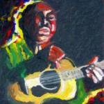 Blues Guitar Impasto Prints & Posters