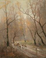 Adolf Kaufmann - (Opava 1848-1916 Vienna) flock of