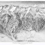 """Breckenridge Conceptual Trail Map Sketch"" by jamesniehuesmaps"