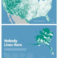 """Nobody Lives Here Map Print"" by mapsbynik"