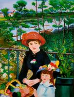 Version of Renoir's Two Sisters on the Terrace