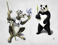 Donkey Xote and Sancho Panda (wordless)