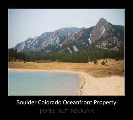 Boulder CO Oceanfront Property Poster Black