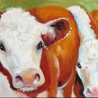 """FAB FIVE COWS"" by MBaldwinFineArt2006"