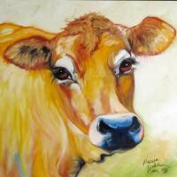 THOSE EYES JERSEY COW by Marcia Baldwin