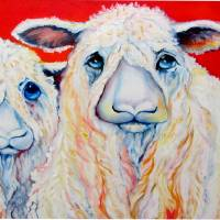 SWEET WENSLEYDALES SHEEP by Marcia Baldwin