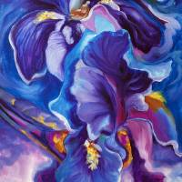THE SHADOW OF YOUR SMILE IRIS ABSTRACT  by Marcia Baldwin