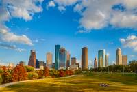 Houston Skyline Fall D821618