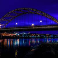 The Birmingham Bridge at Blue Hour Art Prints & Posters by Joseph Heh