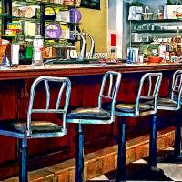 """Candy Store With Soda Fountain"" by susansartgallery"