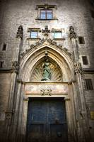 Barcelona Church Door by Carol Groenen