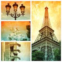 Drama of Paris Collage by Carol Groenen