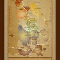 """Napa Valley AVA Map"" by vinemappers"