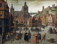 Abel Grimmer The Marketplace in Bergen op Zoom pro