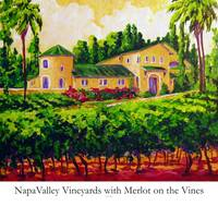Napa Valley Vineyards with Merlot on the Vine
