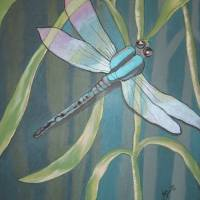 Forever Dragonfly1 Art Prints & Posters by Julie Belmont