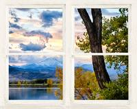 Colorado Rocky Mountain Lake Autumn White Window