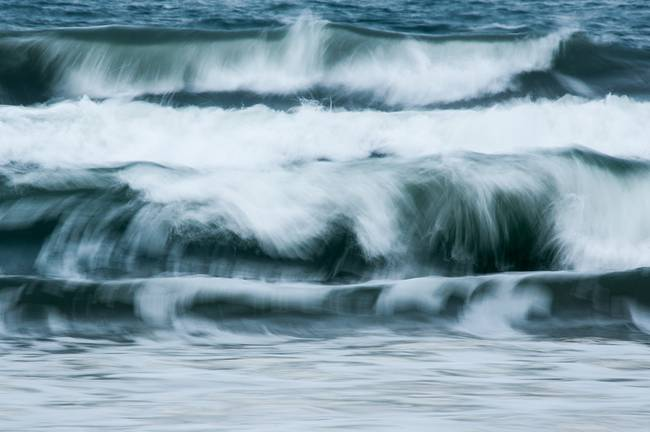 Waves at Bamburgh Beach