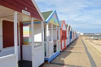 Colorful English Beach Huts
