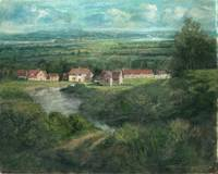 Dorf am Fluss_50x40_oil on canvas