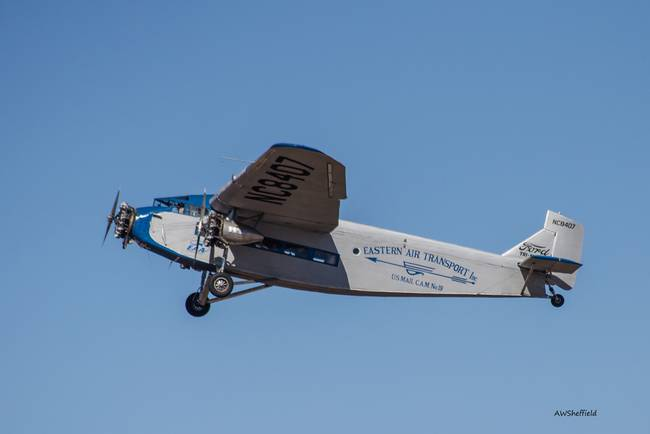 Ford Tri-Motor In Flight