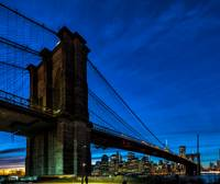 Brooklyn Bridge at the Blue Hour & Sunset