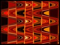 Warm Colors Lines and Swirls Abstract