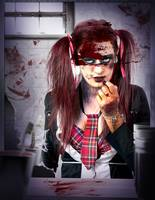 Killer school girl in a murder cover up