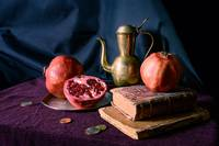 still life with pomegranates