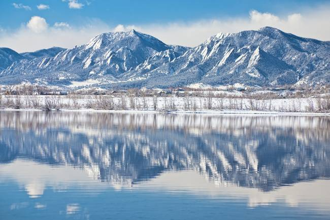 Boulder Reservoir Flatirons Reflections Boulder Co