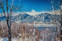 Boulder Colorado Winter Season Scenic View