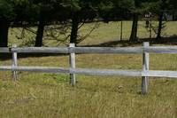 White Fence on a Farm