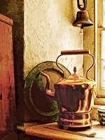 Copper Tea Kettle On Windowsill
