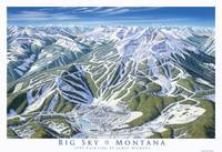 Big Sky 1995 Trail Map Art Print