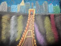 cincy at night in chalk