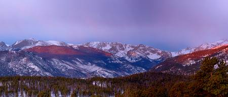 Colorado Rocky Mountain Peaks Sunrise Panorama Pt2