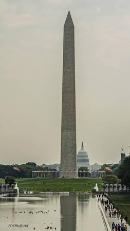 Washington Monument with US Capitol